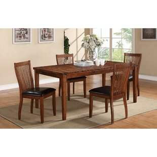 Blanco Point 5 Piece Extendable Solid Wood Dining Set Loon Peak