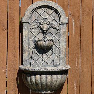 Fleur De Lis Living Madeley PolyStone Outdoor Wall Fountain
