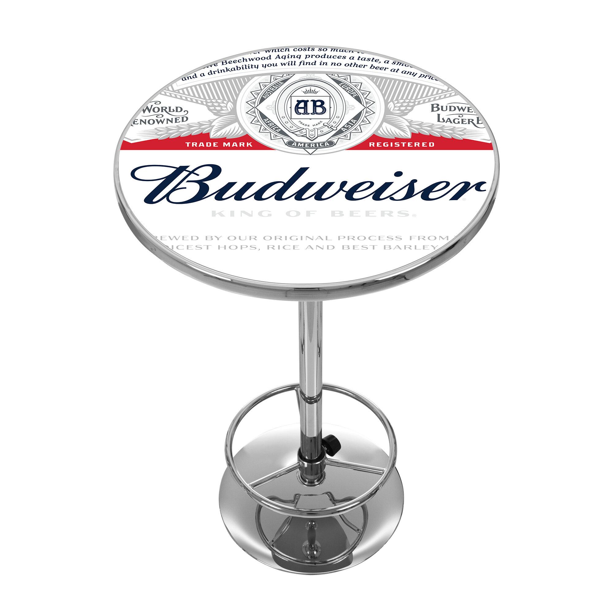 Trademark global budweiser pub table wayfair watchthetrailerfo