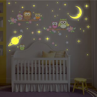 Bayswater Moon And Stars Owl Tree Wall Decal