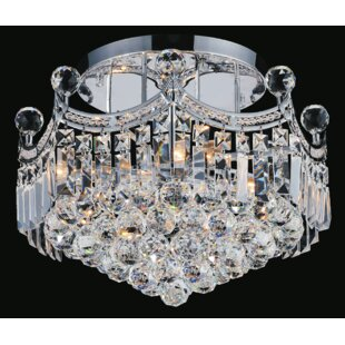 CWI Lighting Amanda 4-Light Semi Flush Mount