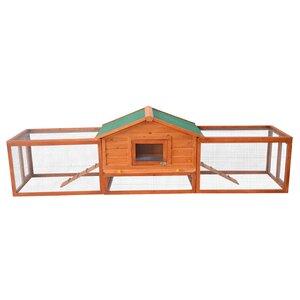 Archie Deluxe Rabbit Hutch Chicken Coop with Double Outdoor Runs