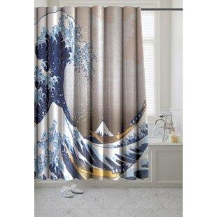 Ardon The Great Wave Museum Single Shower Curtain