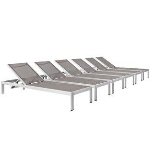 Orren Ellis Coline Outdoor Patio Single Chaise (Set of 6)
