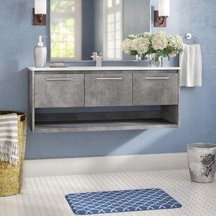 Leatherhead 48 WallMounted Single Bathroom Vanity Set