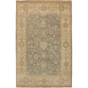 Order One-of-a-Kind Doggett Hand-Knotted Wool Dark Gray/Beige Area Rug By Isabelline