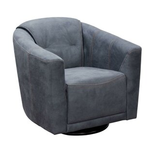 Minoru Fabric Upholstered Swivel Armchair