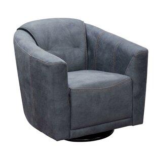 Minoru Fabric Upholstered Swivel Armchair by Latitude Run