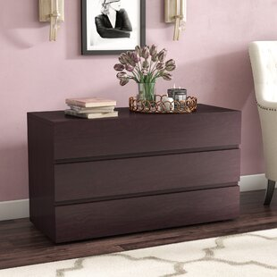 West Broadway Wenge 3 Drawer Dresser