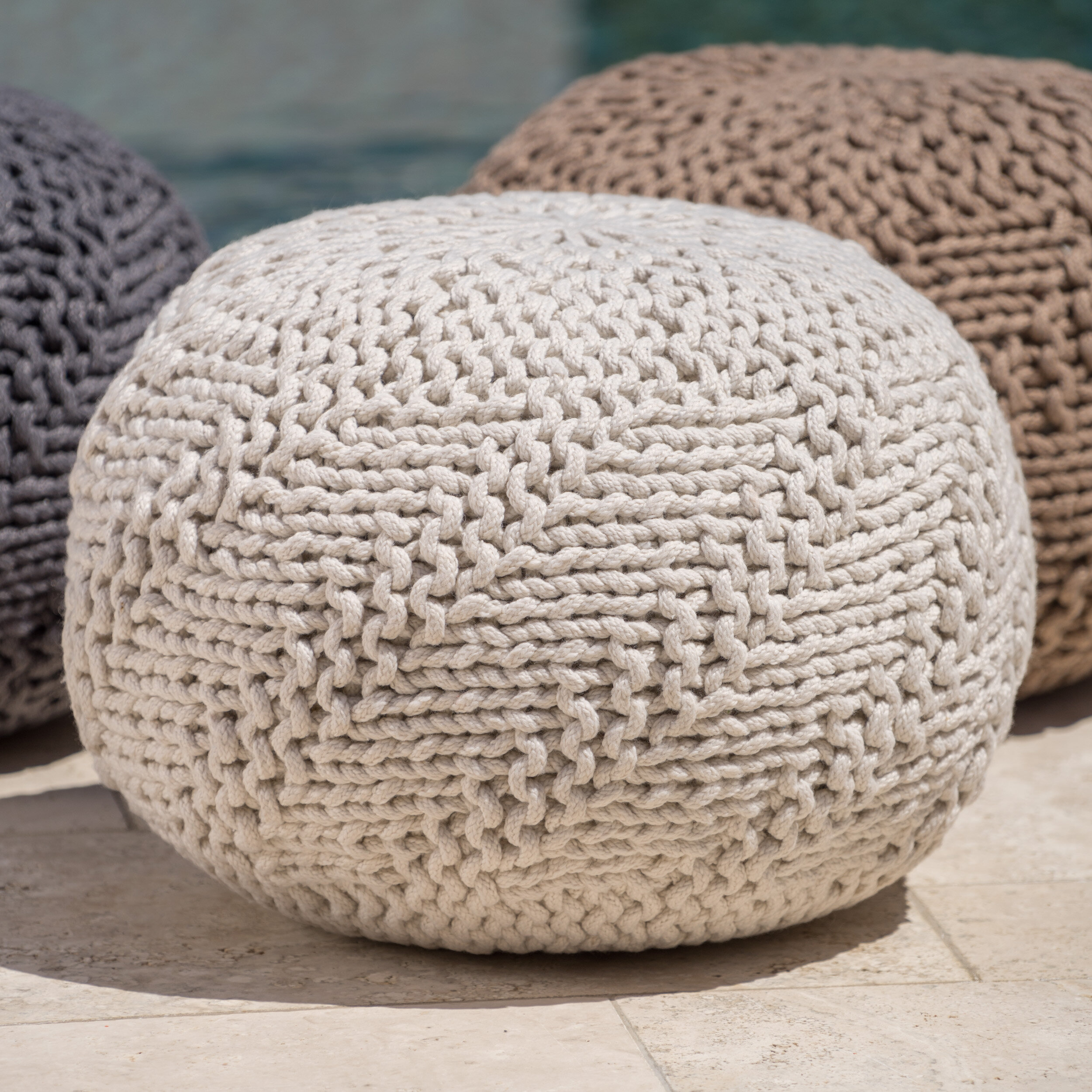 ottoman white home pouf off overstock wool grey product shipping poof round free jiti garden chevron today