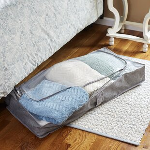 Inexpensive Zippered Fabric Underbed Storage with Plastic Top By Symple Stuff