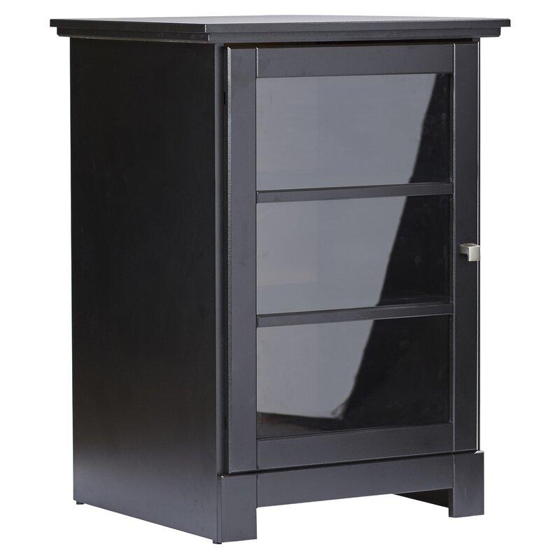 Andover Mills Kew Gardens 1 Door Audio Cabinet In Black Reviews