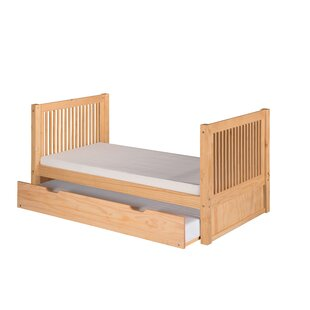Oakwood Twin Slat Bed with Trundle