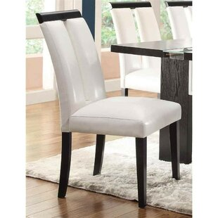 Altenpohl Wooden Upholstered Dining Chair (Set of 2) by Orren Ellis