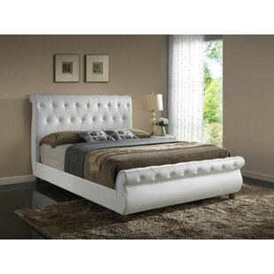 Glory Furniture Tina Upholstered Sleigh Bed