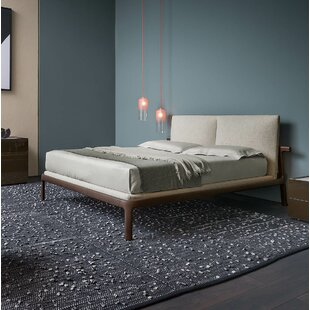 Fushimi Upholstered Platform Bed with Headboard Cushions and Mattress Base by Pianca USA