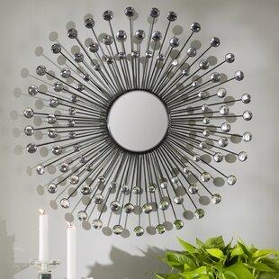 3dc96ba6e515f Estrela Modern Sunburst Metal Wall Mirror