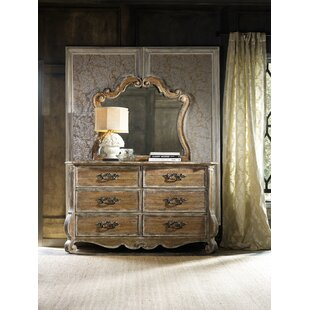 Hooker Furniture Chatelet 6 Drawer Double Dresser with Mirror