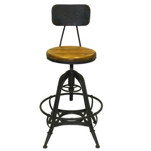 Clapton Adjustable Height Swivel Bar Stool (Set of 2)