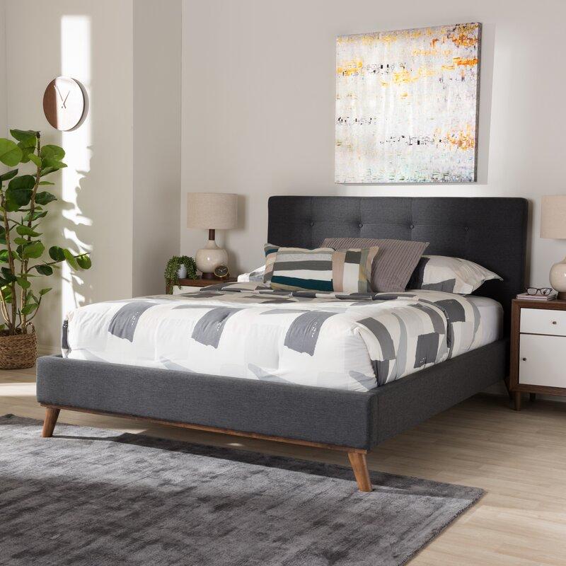 Jeterson Tufted Low Profile Platform Bed