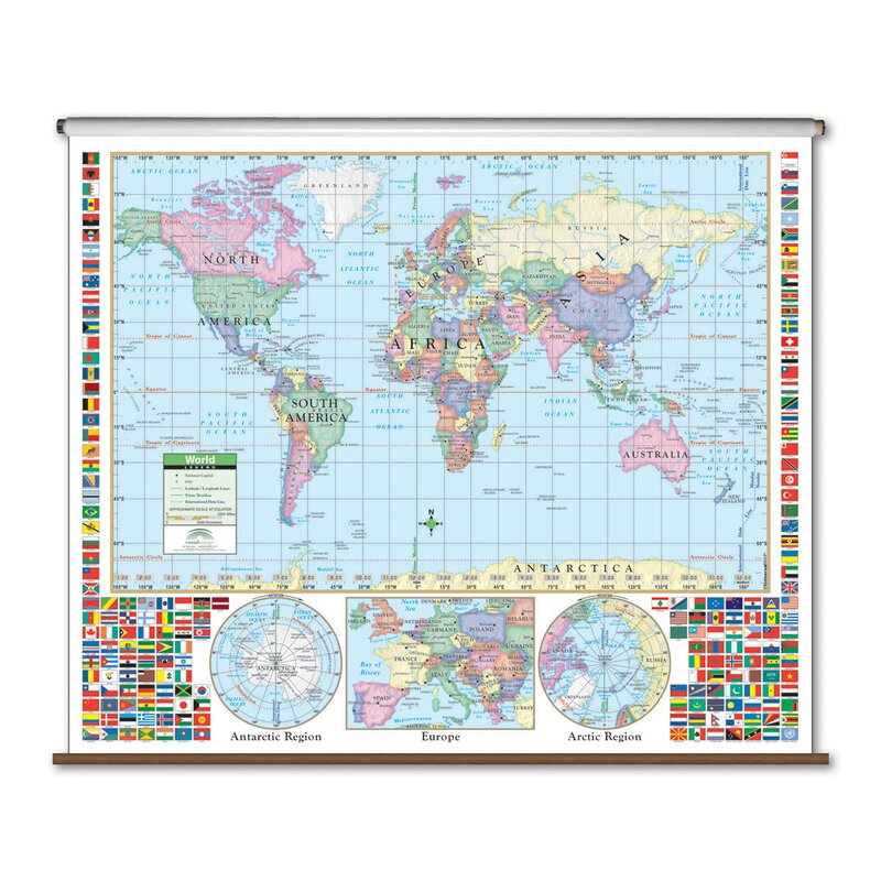 Primary Wall Map - World on kindergarten map of africa, kindergarten map of ireland, kindergarten map of the world, kindergarten map of asia, kindergarten map of mexico,