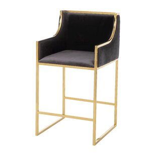 Carreiro Velvet Counter 26 Bar Stool Mercer41