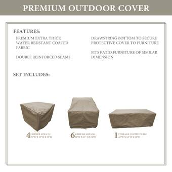 Tk Classics Forence Water Resistant 3 Piece Patio Sofa Cover Set Wayfair