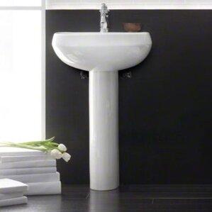 Wellworth 22 Pedestal Bathroom Sink With Overflow