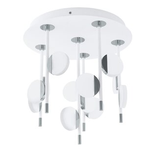 Poulan 12-Light Semi Flush Mount by Ivy Bronx