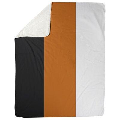Texas Fleece Blanket East Urban Home Size 30 W X 40 L Color Black Orange Shefinds