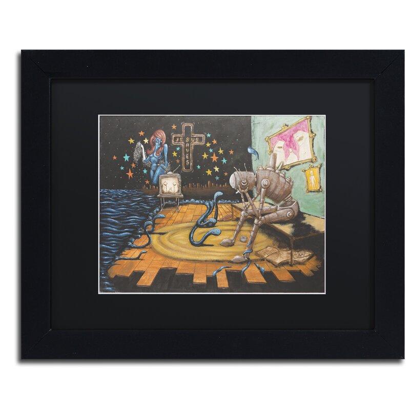 Trademark Art \'Jesus Saves\' by Craig Snodgrass Framed Painting Print ...