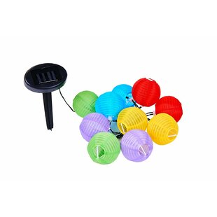 Padstow Solar LED Lanterns String Lights 20 Color 20pc (Set of 20) by Freeport Park