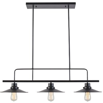 3-Light Kitchen Island Linear Pendant Light Society