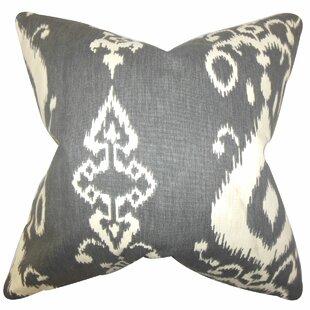 Katti Ikat Cotton Throw Pillow