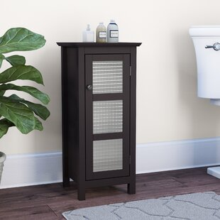 Cosby Floor Glass 1 Door Accent Cabinet by Winston Porter