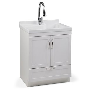 Maile 28 W Freestanding Laundry Sink With Faucet