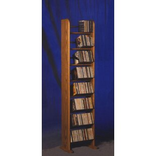 800 Series 208 CD Backless Dowel Multimedia Storage Rack Wood Shed