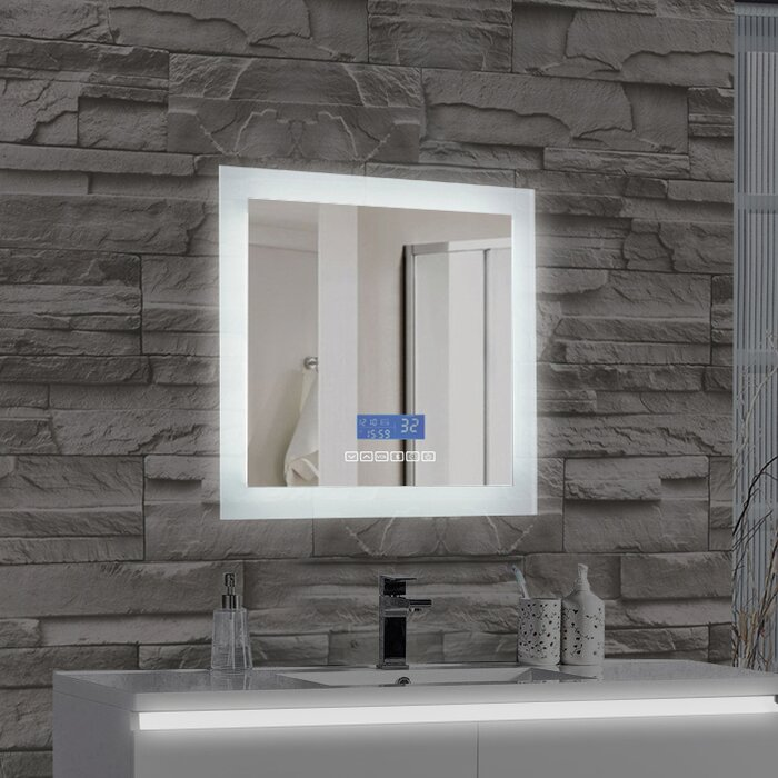 Encore LED Illuminated Bathroom Wall Mirror With Built In Bluetooth Audio Speaker