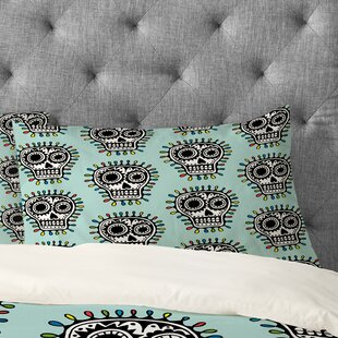 Andi Bird Sugar Skull Fun Pillowcase