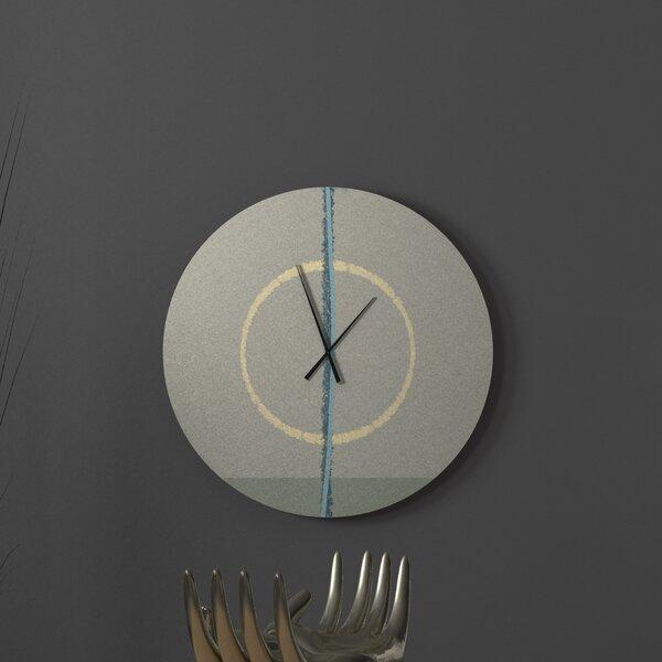Ebern Designs Natural Modernistic Abstract Metal Wall Clock Wayfair