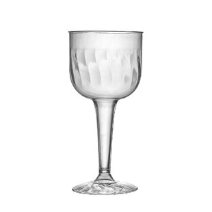 Flairware Rippled Disposable Plastic Wine Glass