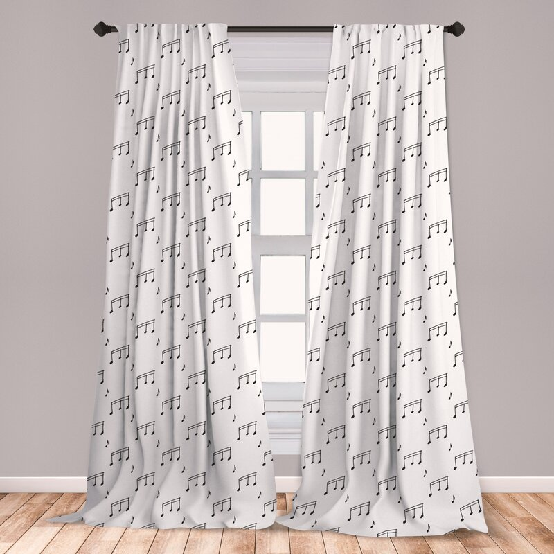 East Urban Home Fino Music Room Darkening Rod Pocket Curtain Panels Wayfair