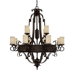 Fleur De Lis Living Byrd 12-Light Shaded Chandelier