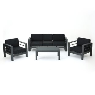 Crosstown 4 Piece Sofa Set with Cushions