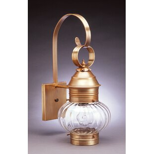 Best Onion 1-Light Outdoor Wall Lantern By Northeast Lantern