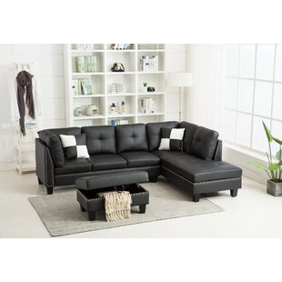 Ebern Designs Round Hill Sectional with O..