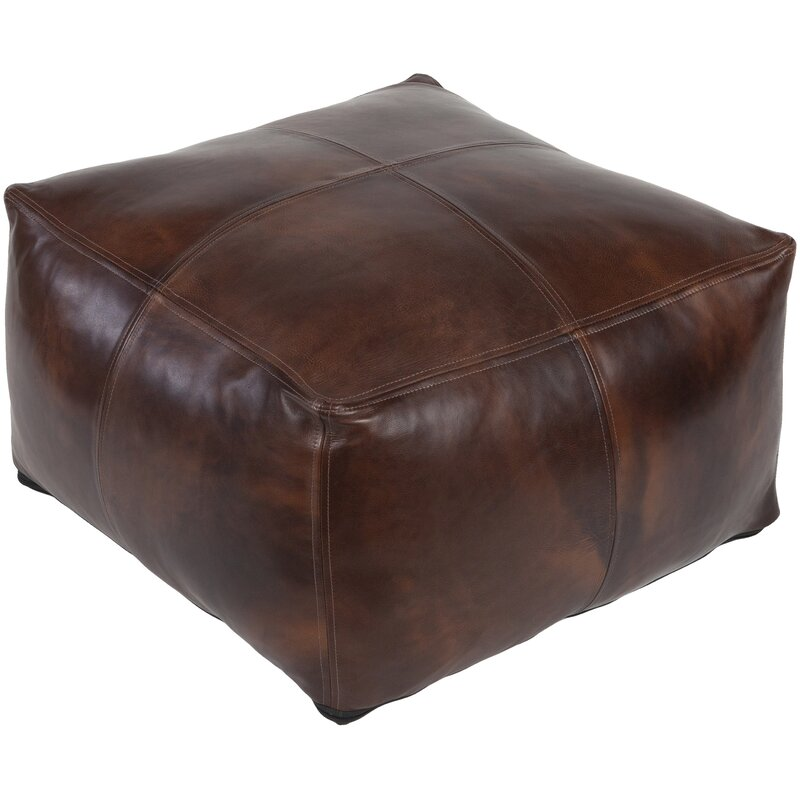 Magnificent Brower Leather Pouf Unemploymentrelief Wooden Chair Designs For Living Room Unemploymentrelieforg