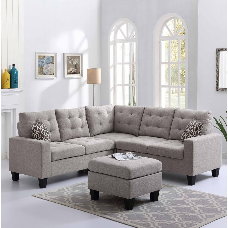 Pawnee Sectional with Ottoman