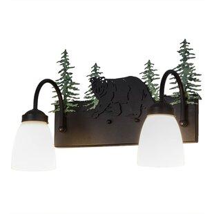 Meyda Tiffany Northwoods Lone Bear 2-Light Vanity Light