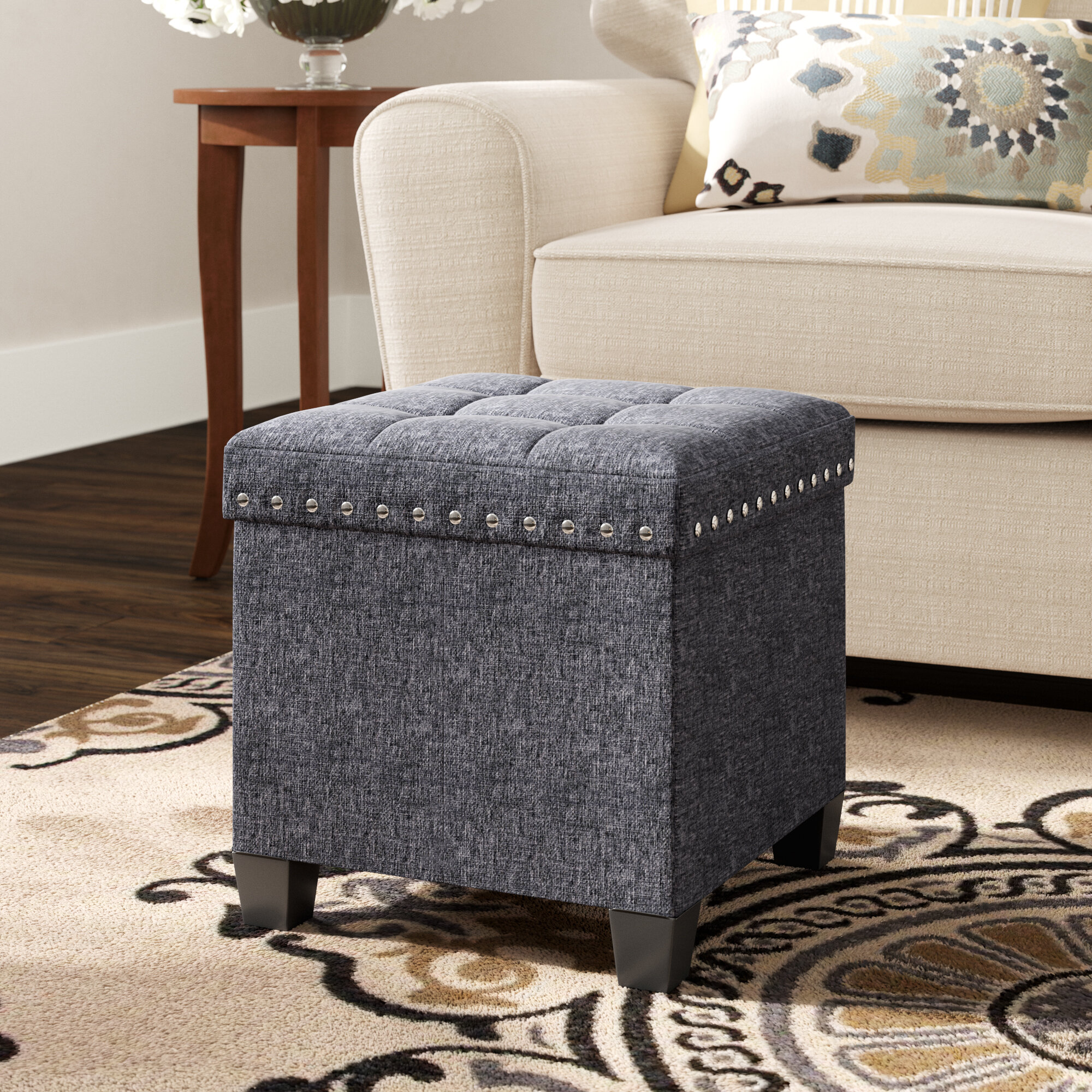 Pleasing Revell Tufted Cube Ottoman Uwap Interior Chair Design Uwaporg